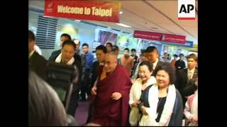 Tibetan spiritual leader arrives to comfort storm victims, demonstrations