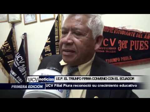 I.E EL TRIUNFO   FIRMA CONVENIO CON EL ECUADOR-UCV NOTICIAS PIURA