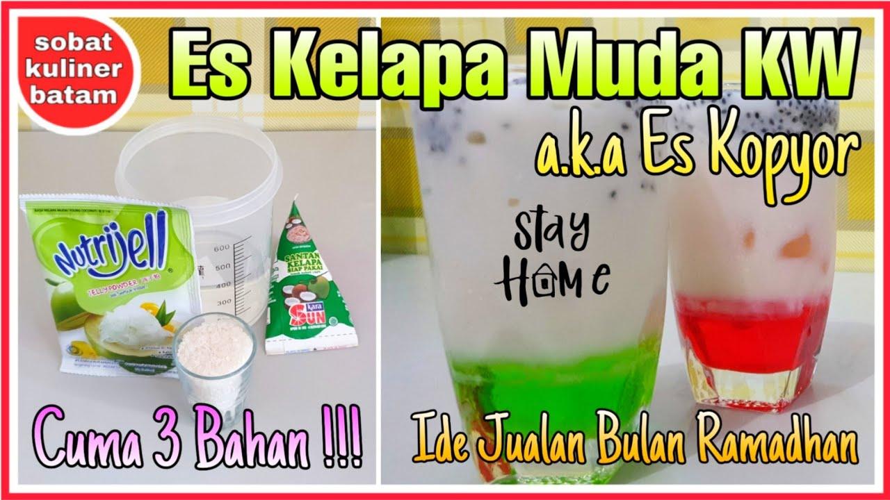 Cara Membuat Es Kelapa Muda Kw Es Kopyor Es Degan Nutrijel Ide Jualan Bulan Ramadhan Youtube