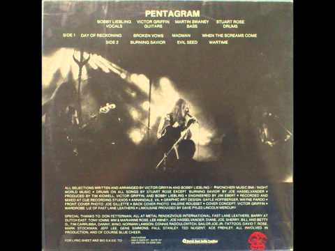 "Pentagram - Day of The Reckoning LP ( Original ""Napalm"" Mix / Vinyl Rip)"