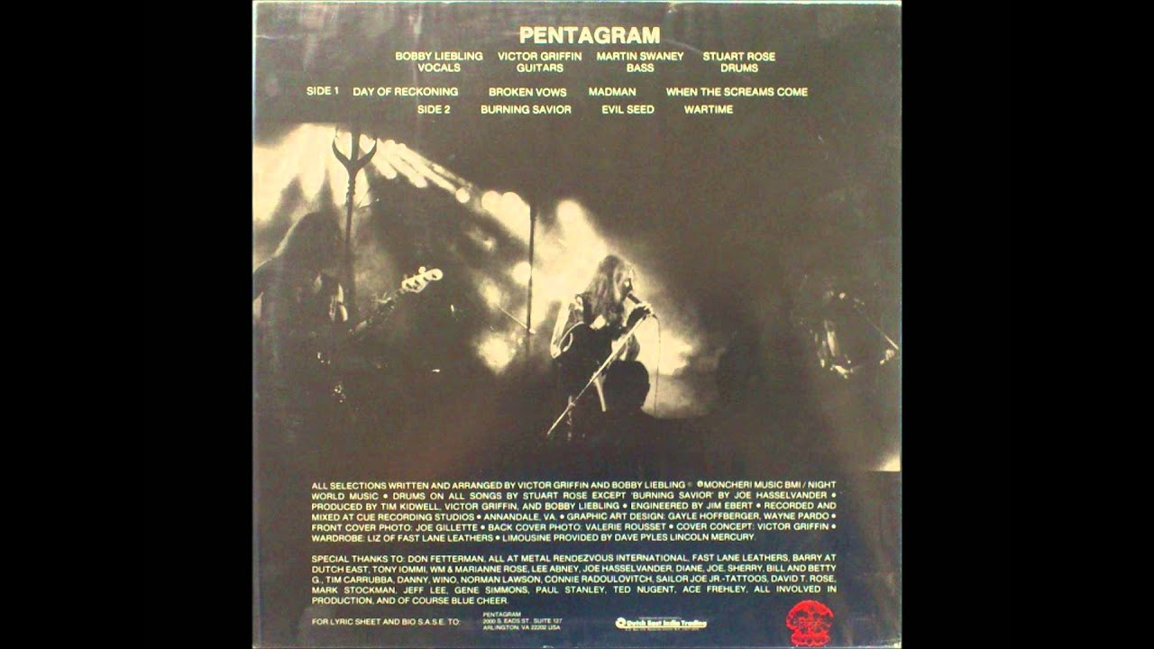 Pentagram Day Of The Reckoning Lp Original Quot Napalm