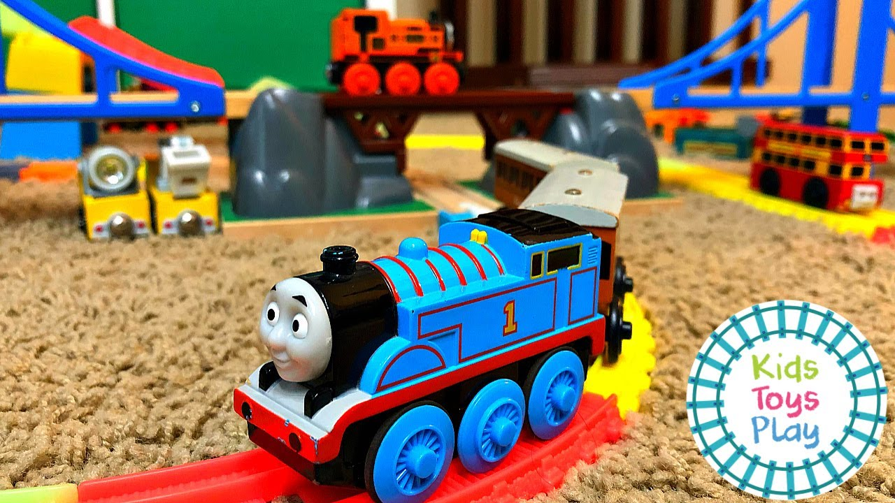 Huge Thomas and Friends Toy Train Track Build with Train Labs