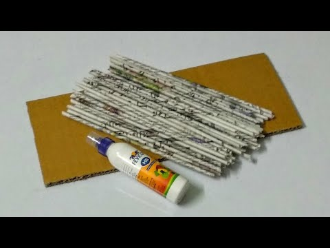Newspaper and Cardboard craft/Best out of waste craft ideas