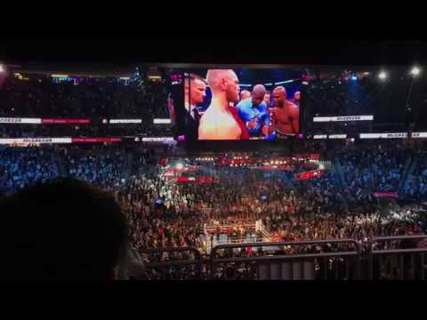 4k FULL Conor Mcgregor Floyd Mayweather FIRST ROUND IN CROWD  FIGHT $6,000 SEATS