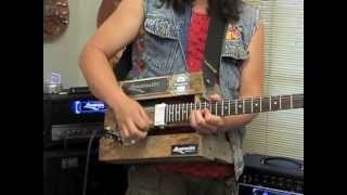 Langcaster Beer crate guitar & New Langcaster Studio Blue Pickups