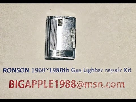 RONSON 1960~1980th Gas Lighter repair Kit**10(Not the origional RONSON components)