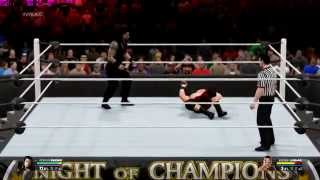 WWE 2K15 PC Roman Reigns VS Brock Lesnar