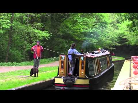 Canal cruising in North Wales