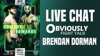 LIVE CHAT: UFC Singapore Preview (w/ Brendan Dorman), ASK US ANYTHING