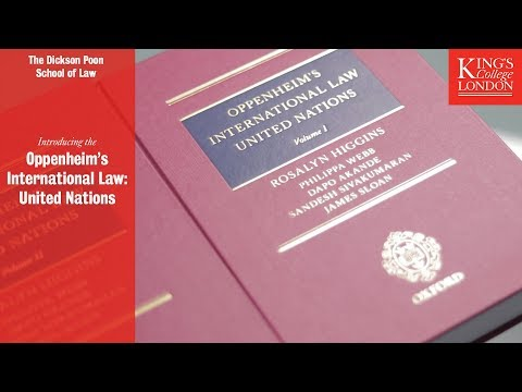 An Introduction to 'Oppenheim's International Law: United Nations'