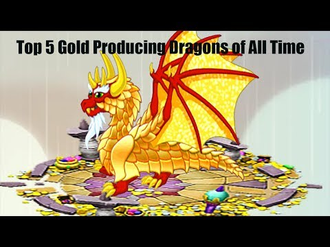 Dragonvale:Top 5 Gold Producing Dragons of All Time!