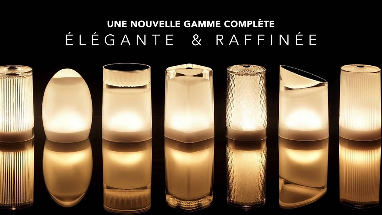 Lampe de table sans fil butterfly lumi res concept youtube for Lampe de table rona