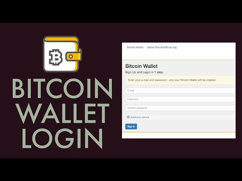 Bitcoin Wallet Login Sign In | Bitcoin.com Wallet Login 2021 | Bitcoin Login