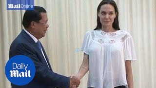 Angelina Jolie meets Cambodian PM as she begins filming - Daily Mail