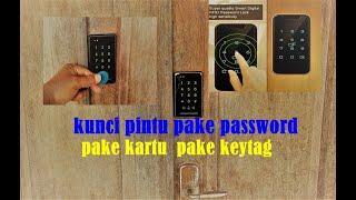 Kunci pintu pake password dan kartu, tagkey    RFID door lock screenshot 5