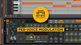 Bitwig Studio 2 Key Features: Per-Voice Modulation