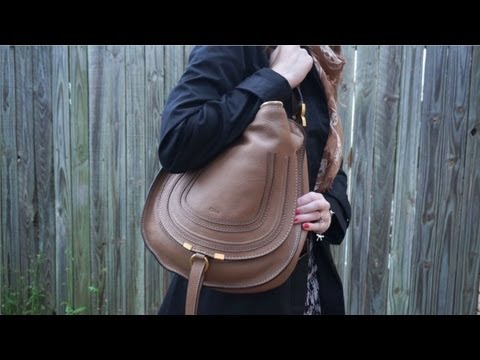 Chloe Marcie Bag Review and Contents - Medium Hobo in Nut - YouTube
