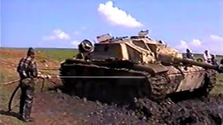StuG IV pulled out from mud after 60 years