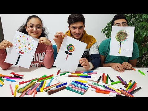 PAINT YOURSELF CHALLENGE !!! CANDY ( Happy Kids Games )