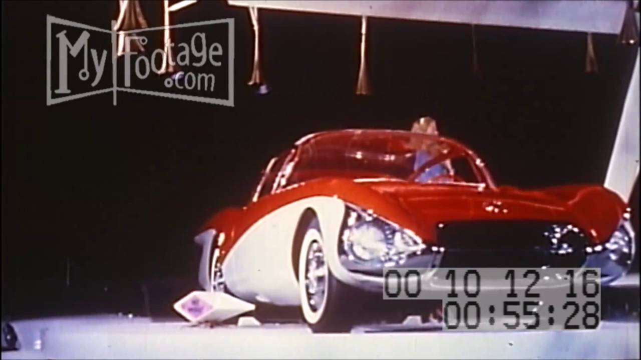 1956 CARS GM DREAM OF TOMORROW Motorama Stock Footage HD