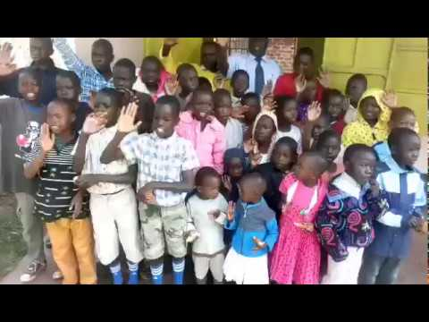 Children Thanking Sponsors of Global Mission for Children   Working Faith Fellowship