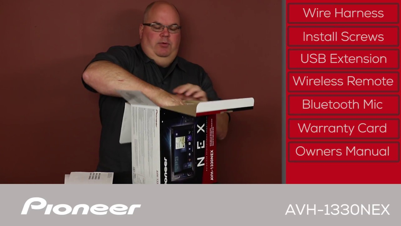 Avh 1330nex Whats In The Box Youtube Pioneer Wiring Installation