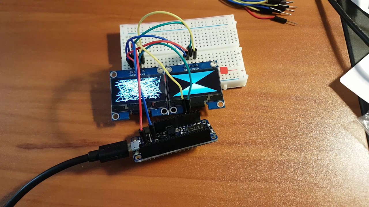 Control Multiple I2C OLED Displays Using a Shared Clock Signal