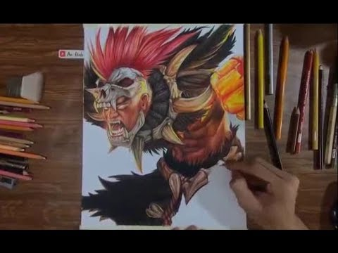 Liên Quân Mobile | vẽ RAZ Đại Tù Trưởng