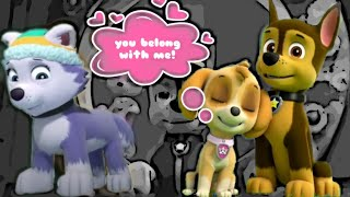 Chase X Skye (Skase vid)  Chase belongs with Skye not with Everest (You Belong With Me) Paw Patrol