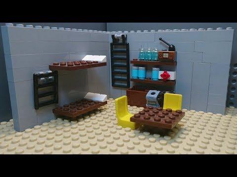 ЛЕГО самоделка зомби-апокалипсис -  бункер выживших