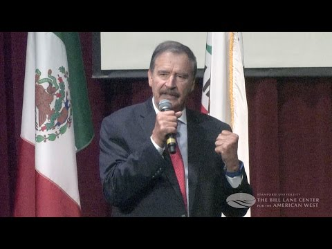 """Vicente Fox at Stanford: """"The Future of U.S. Mexican Relations"""""""