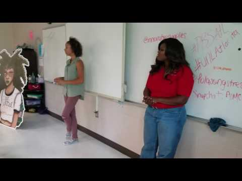 Nneka Brown, Founder of Innovative Supplies, Speaks to High School Student