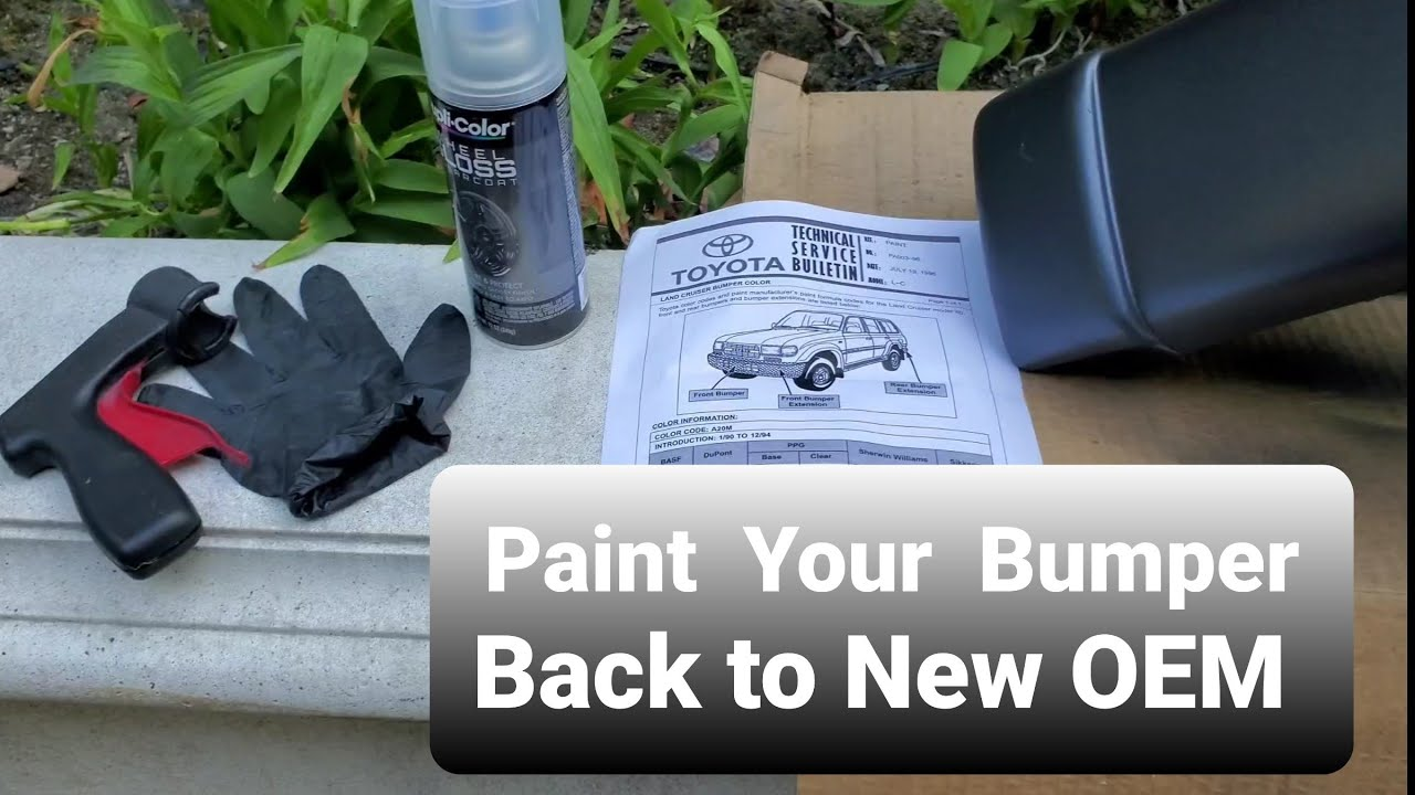 DIY Painting your Landcruiser Bumpers the ✔ Right Way with Paint Code