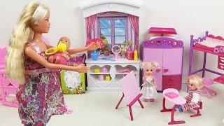Мультик с куклами Штеффи, малыш играет в прятки Набор Детская комната Doll baby toys play