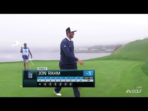 2017 Pebble Beach Pro Am Round 2- Jon Rahm