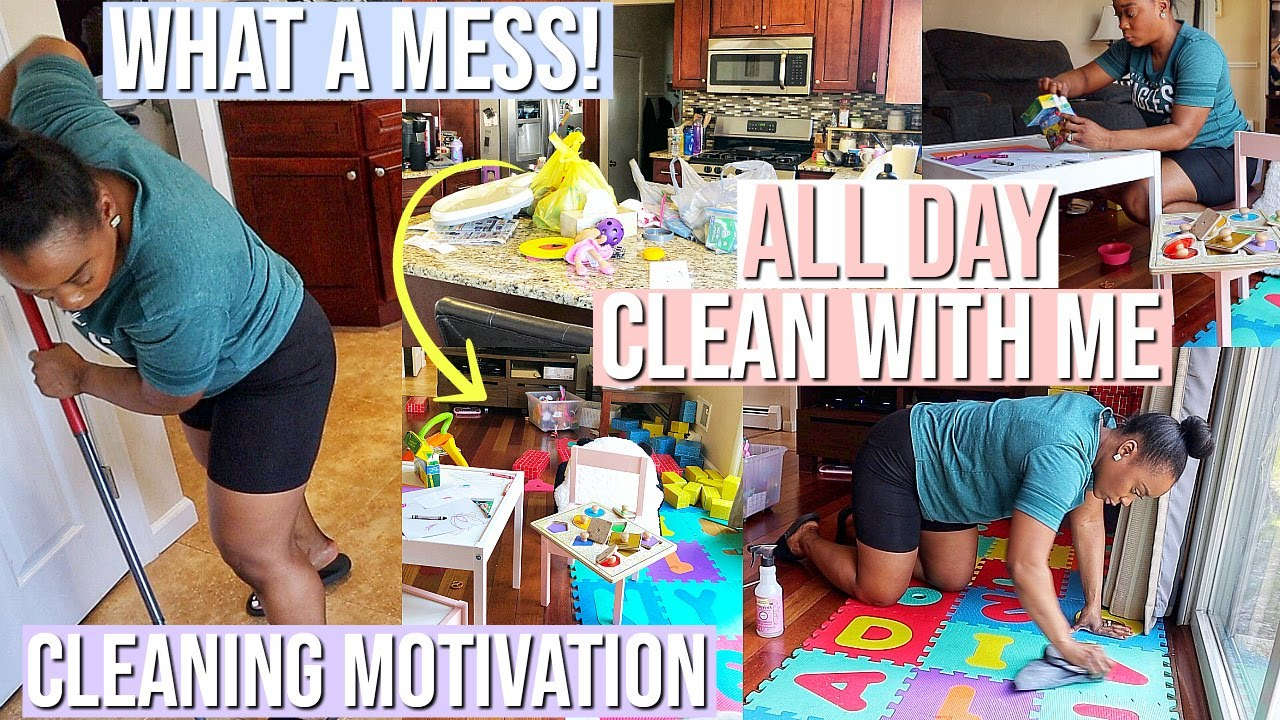 [VIDEO] - ULTIMATE ALL DAY CLEANING WITH ME | CLEANING MOTIVATION SPRING 2019 | NIA NICOLE 1