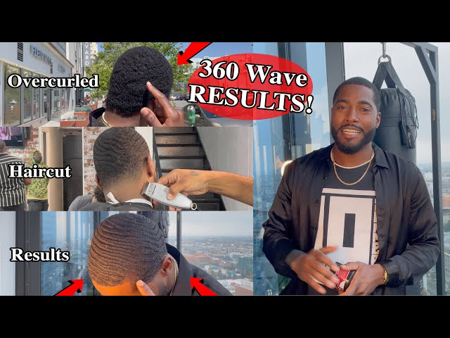 Fresh Haircut After Over Wolfing! Crispy 360 Waves Line up