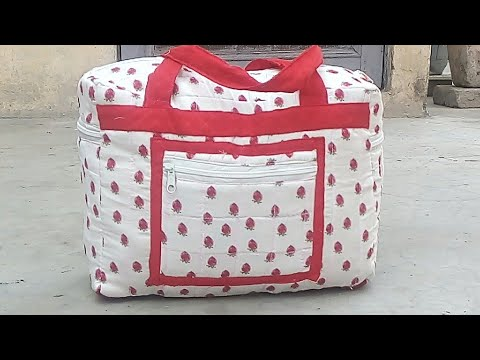 Bag cutting and stitching ll Travell Bag with pockets