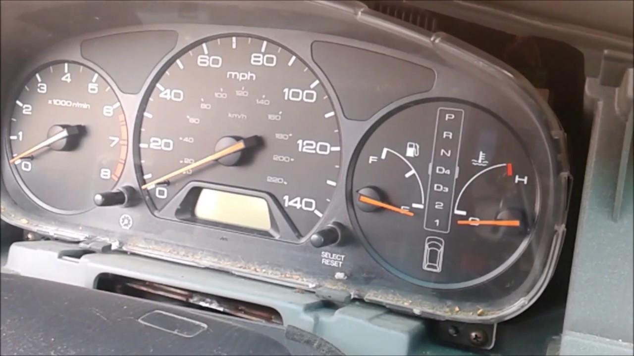 2003 honda odyssey clock light