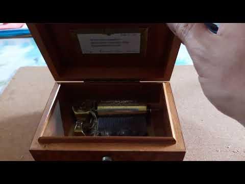 Swiss 3 tune 36 note music box repair