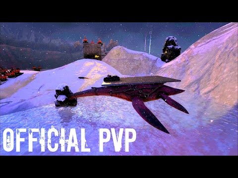 HIGH LVL PLESIOSAUR Taming w/ Base Upgrades - Official PVP (E48) - Ark Survival