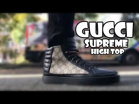 14969d81df9 Gucci Supreme GG high-top sneaker Review and on foot - YouTube
