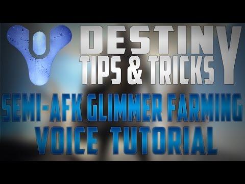 Destiny tutorial glimmer farming semi afk easy glimmer