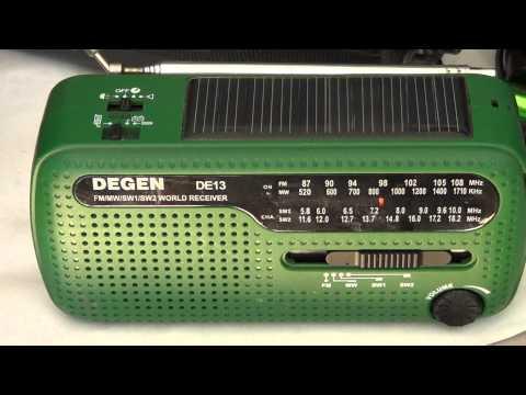 Degen DE 13 solar crank radio review