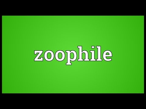 Zoophile Meaning