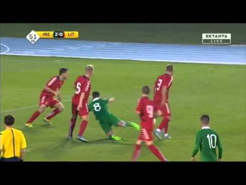 Lukas Cerkauskas (Lithuania U21 left back) summary vs. Ireland U21
