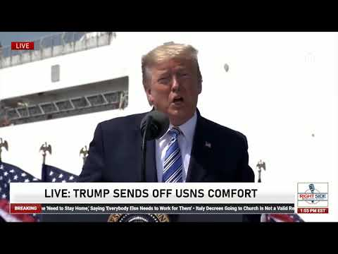 President Trump's Message to NYC Before Sending USNS Comfort to Aid with Coronavirus