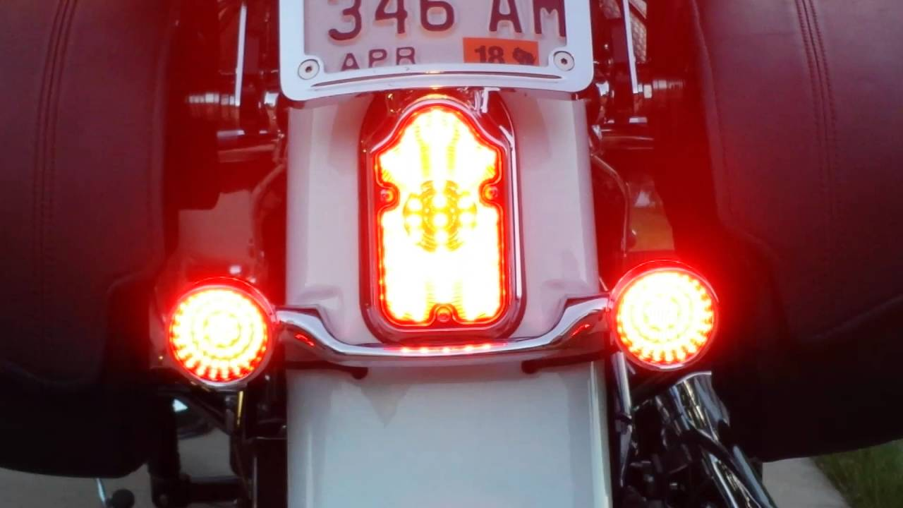 Led Tail Lights 07 Harley Softail Deluxe Youtube