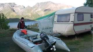 Караванинг с рыбалкой в Норвегии. Caravaning and fishing in Norge.