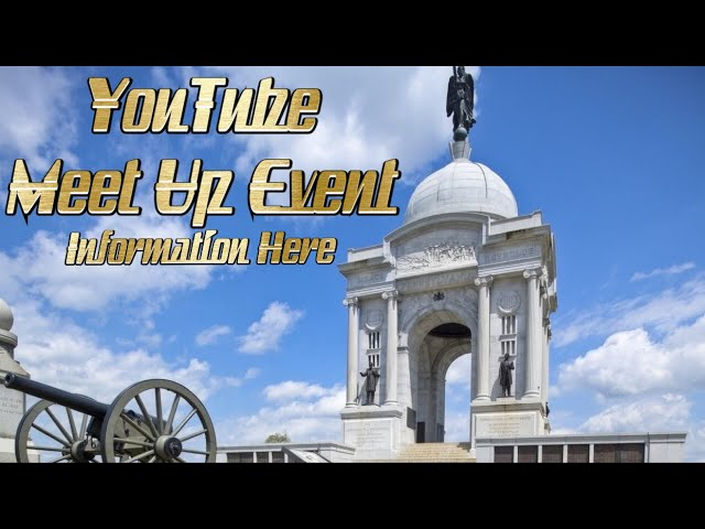 Gettysburg Meetup Event Invitation | Hosted By JPVideos